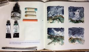 Carolyn J Roberts artist sketchbook work