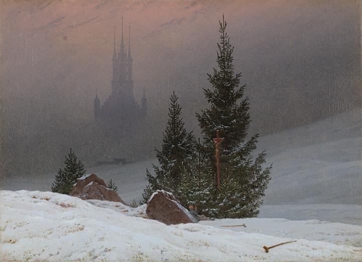 Winter Landscape, Caspar David Friedrich